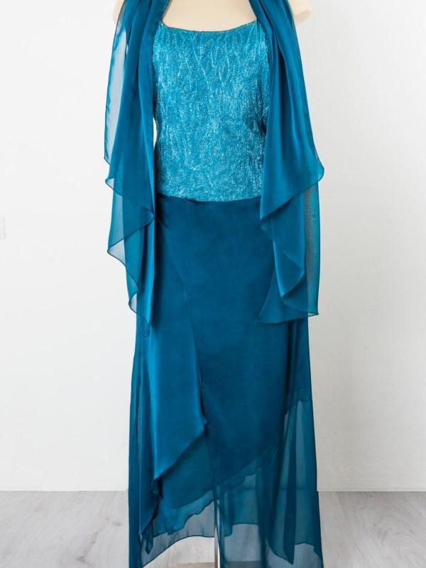 abito da cerimonia in seta blu